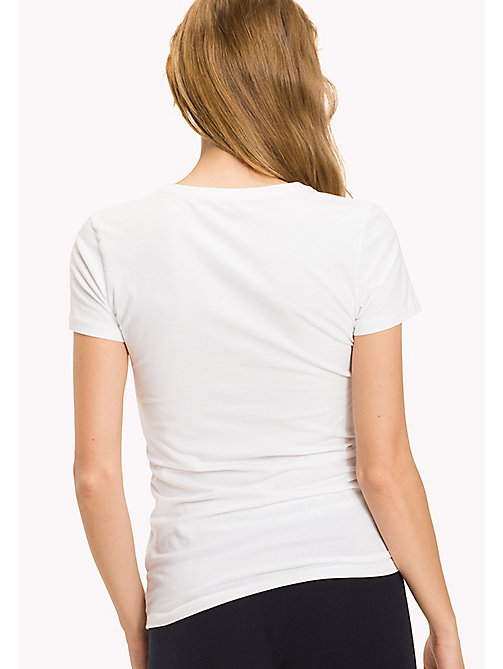 TOMMY HILFIGER Simple Stretch Cotton T-Shirt - CLASSIC WHITE - TOMMY HILFIGER Lounge & Nightwear - detail image 1