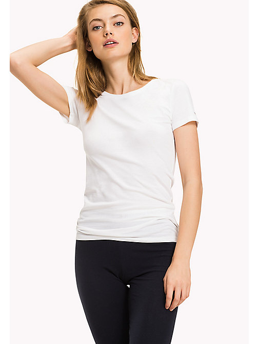 TOMMY HILFIGER Simple Stretch Cotton T-Shirt - CLASSIC WHITE - TOMMY HILFIGER Lounge & Nightwear - main image