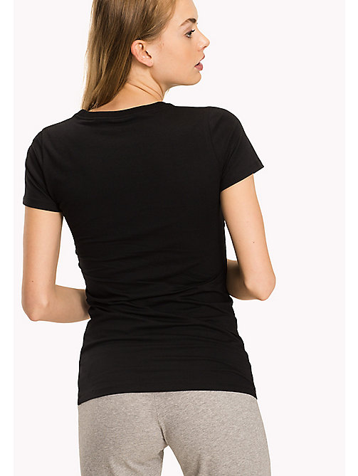 TOMMY HILFIGER Simple Stretch Cotton T-Shirt - BLACK - TOMMY HILFIGER Lounge & Nightwear - detail image 1