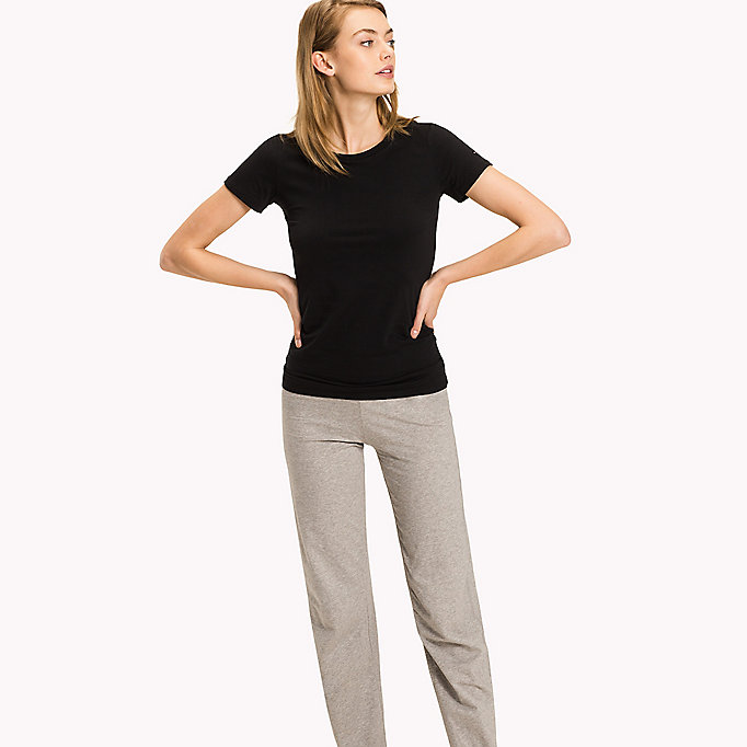 TOMMY HILFIGER Simple Stretch Cotton T-Shirt - GREY HEATHER - TOMMY HILFIGER Women - main image