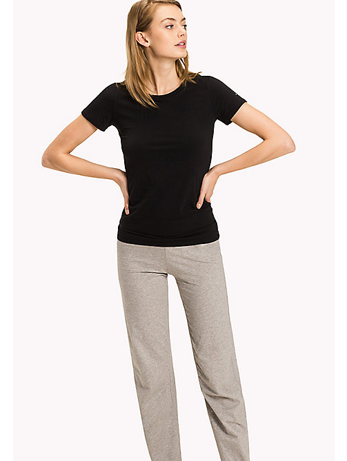 TOMMY HILFIGER Simple Stretch Cotton T-Shirt - BLACK - TOMMY HILFIGER Lounge & Nightwear - main image