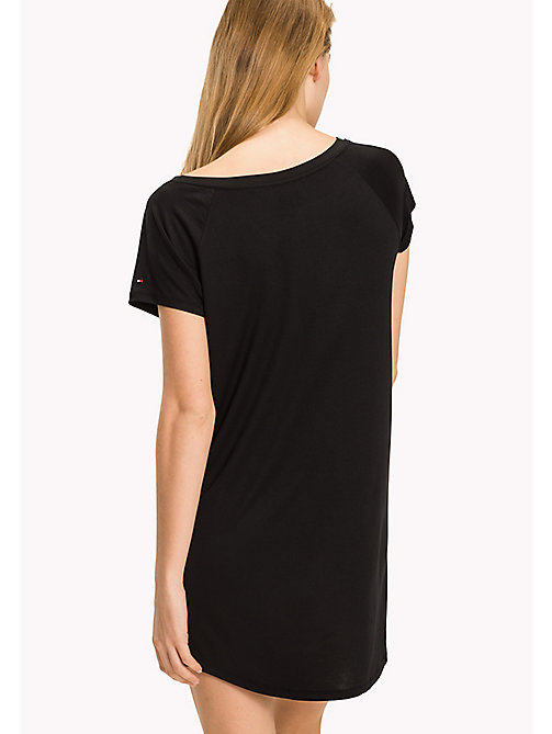 TOMMY HILFIGER Modal Stretch Nightdress - BLACK -  Clothing - detail image 1