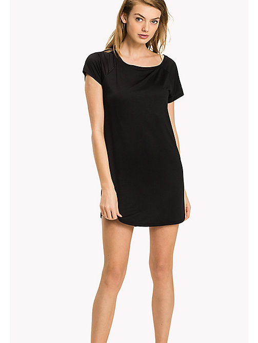 TOMMY HILFIGER Modal Stretch Nightdress - BLACK -  Clothing - main image