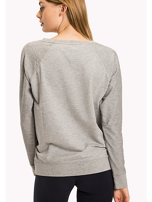 TOMMY HILFIGER Classic Cotton Terry Sweatshirt - GREY HEATHER BC05 - TOMMY HILFIGER Tops - detail image 1