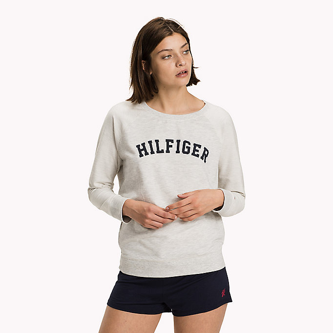 TOMMY HILFIGER Classic Cotton Terry Sweatshirt - GREY HEATHER BC05 - TOMMY HILFIGER Women - main image