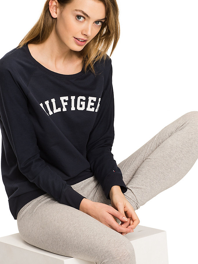 TOMMY HILFIGER Classic Cotton Terry Sweatshirt - BLACK - TOMMY HILFIGER Women - detail image 2