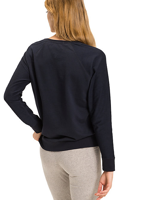 TOMMY HILFIGER Classic Cotton Terry Sweatshirt - NAVY BLAZER-PT - TOMMY HILFIGER Tops - detail image 1