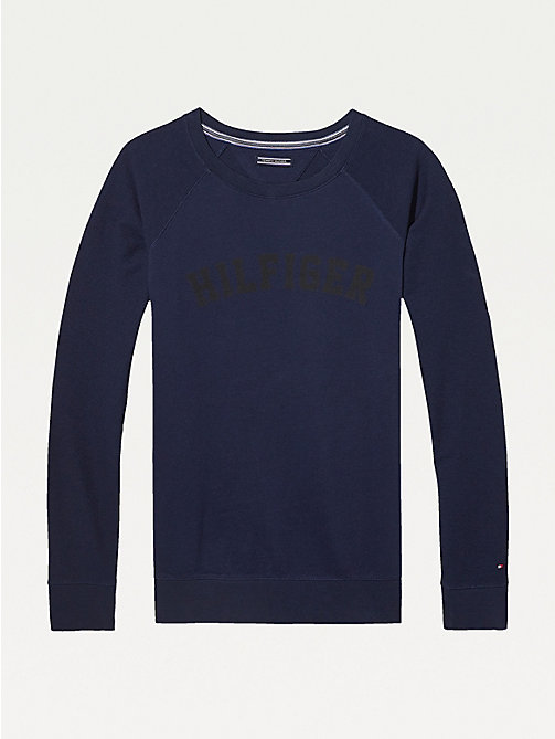 TOMMY HILFIGER Classic Cotton Terry Sweatshirt - NAVY BLAZER-PT - TOMMY HILFIGER Tops - main image