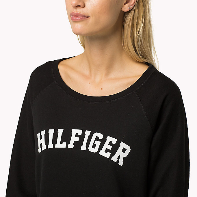 TOMMY HILFIGER Classic Cotton Terry Sweatshirt - INDIAN TEAL - TOMMY HILFIGER Women - detail image 2