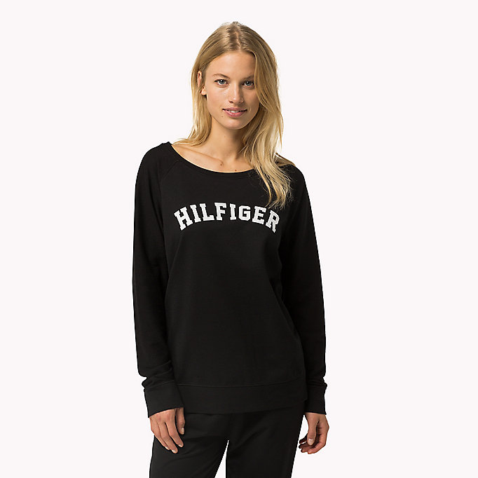 TOMMY HILFIGER Classic Cotton Terry Sweatshirt - INDIAN TEAL - TOMMY HILFIGER Women - main image