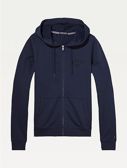 TOMMY HILFIGER Hoodie met ritssluiting - NAVY BLAZER-PT - TOMMY HILFIGER Pyamatops - main image