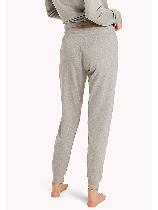 TOMMY HILFIGER Elasticated Tracksuit Bottoms - GREY HEATHER BC05 - TOMMY HILFIGER Bottoms - detail image 1