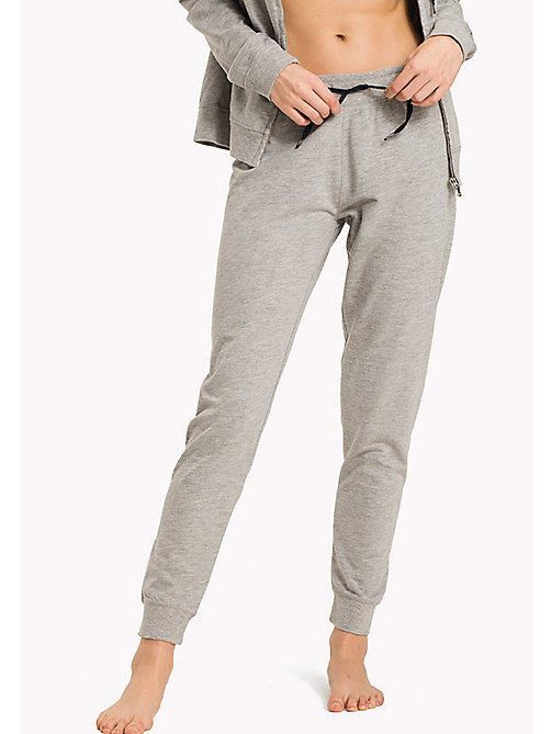 TOMMY HILFIGER Elastische sweatpants - GREY HEATHER BC05 - TOMMY HILFIGER Pyamabroeken - main image