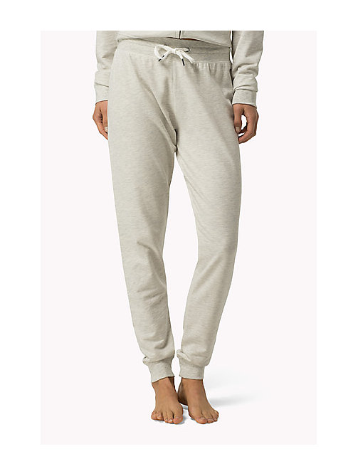 TOMMY HILFIGER Elasticated Tracksuit Bottoms - IVORY HEATHER - TOMMY HILFIGER Bottoms - main image