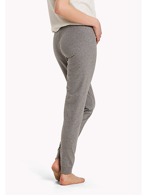 TOMMY HILFIGER Elasticated Tracksuit Bottoms - MID GREY HEATHER - TOMMY HILFIGER Bottoms - detail image 1