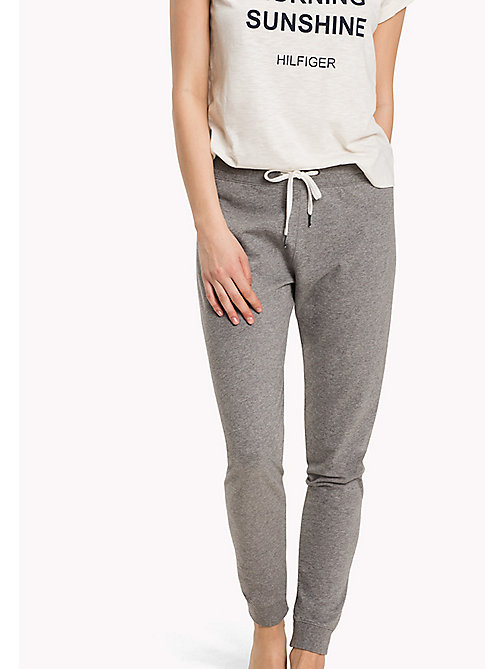 TOMMY HILFIGER Elasticated Tracksuit Bottoms - MID GREY HEATHER - TOMMY HILFIGER Bottoms - main image
