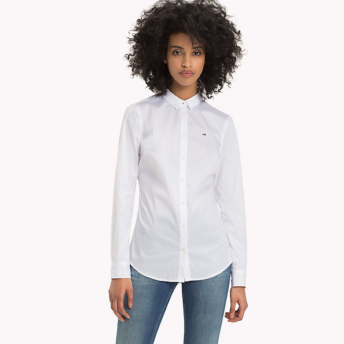 TOMMY JEANS Original Cotton Stretch Shirt - TOMMY BLACK - TOMMY JEANS Women - main image