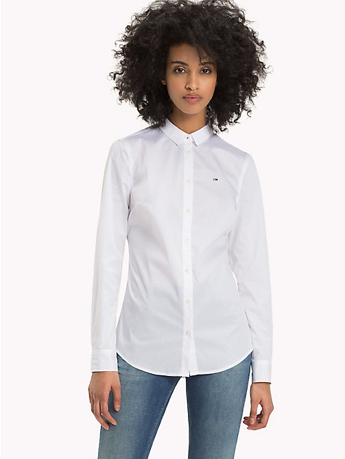 TOMMY JEANS Original Cotton Stretch Shirt - CLASSIC WHITE - TOMMY JEANS Tops - main image