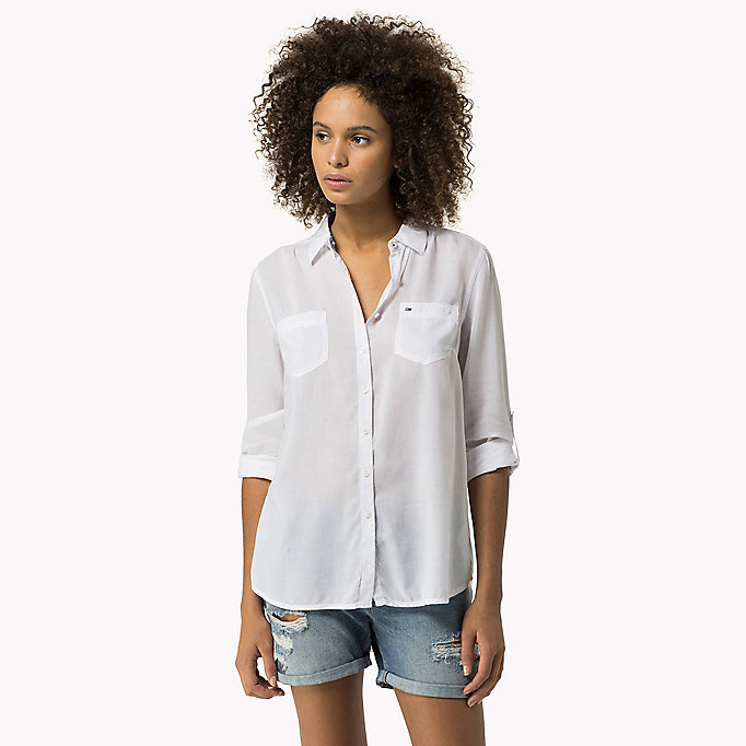 TOMMY JEANS Original Shirt - HALOGEN BLUE - TOMMY JEANS Women - main image
