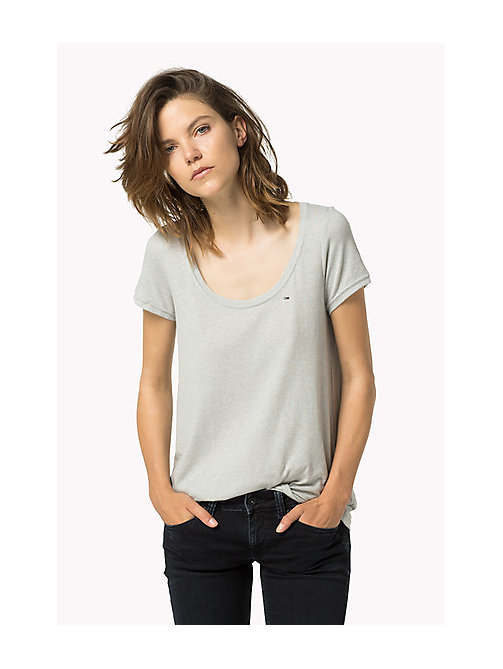 TOMMY JEANS Original - T-shirt - LT GREY HTR - TOMMY JEANS Abbigliamento - immagine principale