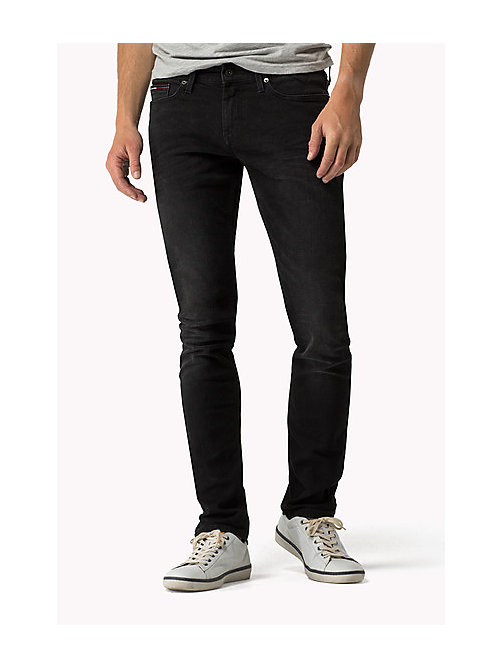 Sidney - Skinny Fit Jeans - BRADFIELD BLACK STRETCH - TOMMY JEANS Kleidung - main image