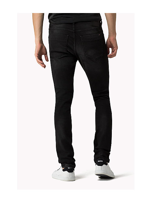 Stve Slim Fit Tapered Jeans - BRADFIELD BLACK STRETCH - TOMMY JEANS Men - detail image 1