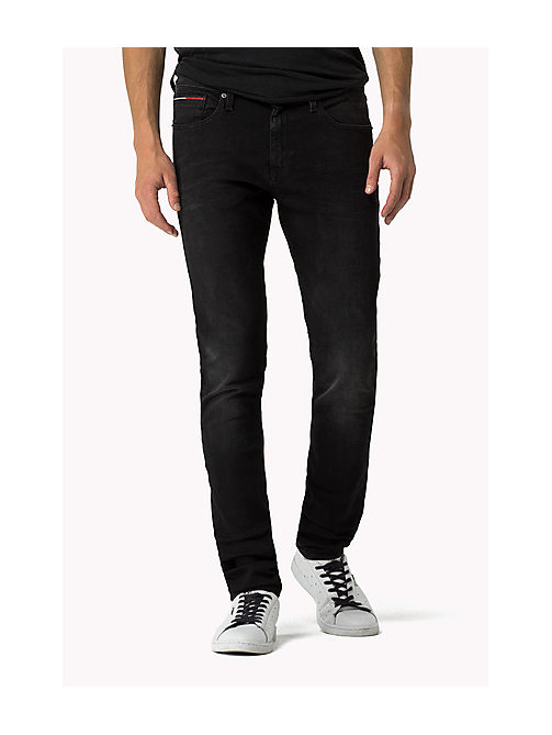 Stve Slim Fit Tapered Jeans - BRADFIELD BLACK STRETCH - TOMMY JEANS Clothing - main image