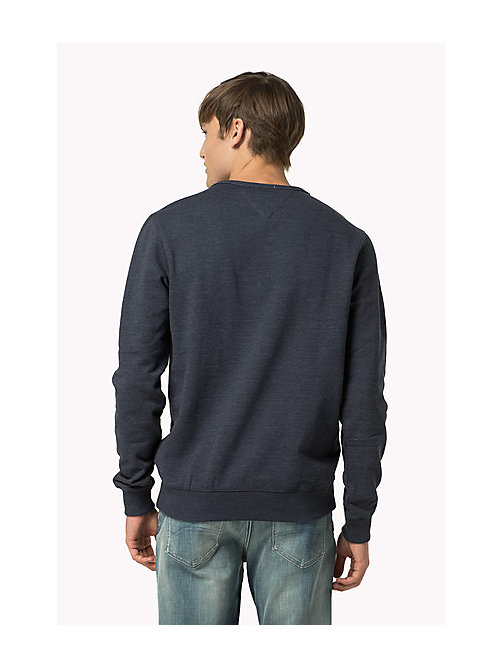 Original Cotton Fleece Sweatshirt - BLACK IRIS - TOMMY JEANS Men - detail image 1