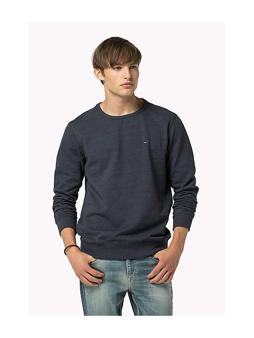 Original katoenen fleece sweatshirt - BLACK IRIS - TOMMY JEANS Kleding - main image