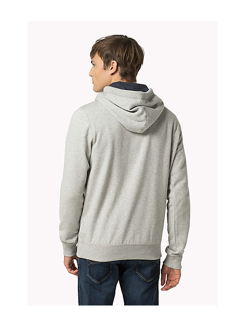 Original Cotton Fleece Hoody - LT GREY HTR - TOMMY JEANS Clothing - detail image 1