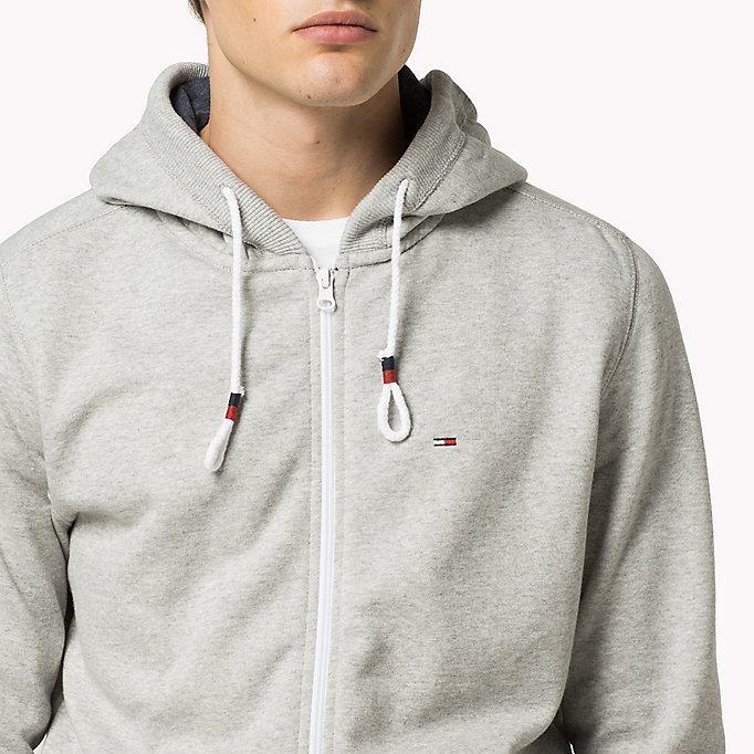 TOMMY JEANS Original Cotton Fleece Hoody - BLACK IRIS - TOMMY JEANS Men - detail image 2