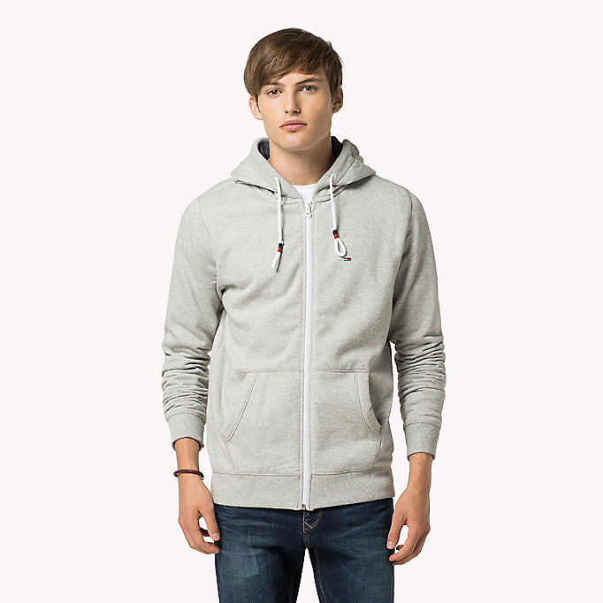 TOMMY JEANS Original Cotton Fleece Hoody - BLACK IRIS - TOMMY JEANS Men - main image