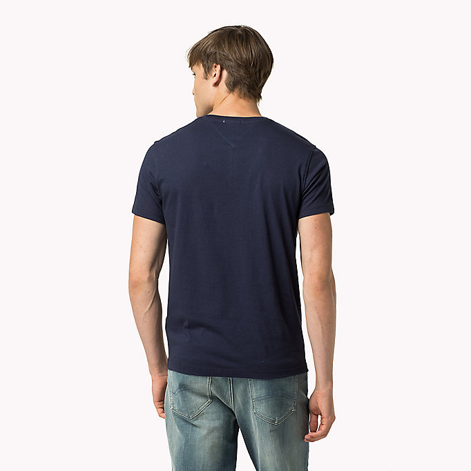TOMMY JEANS Original V-Neck T-shirt - TOMMY BLACK - TOMMY JEANS Clothing - detail image 1