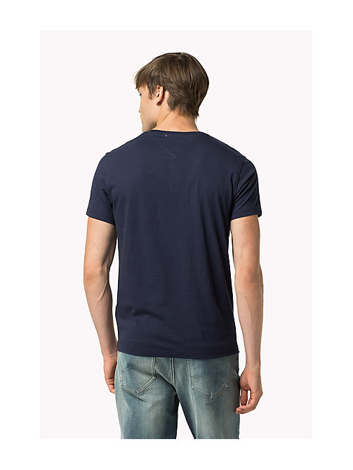 Original V-Neck T-shirt - BLACK IRIS - TOMMY JEANS Men - detail image 1