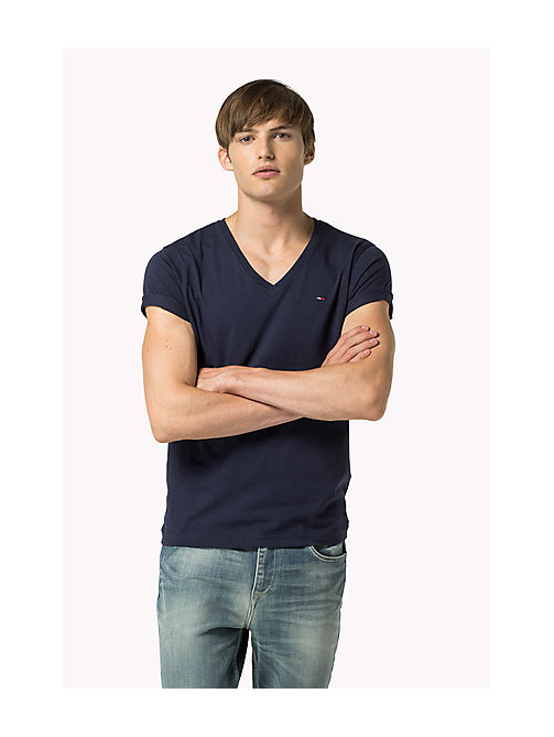 Original V-Neck T-shirt - BLACK IRIS - TOMMY JEANS Men - main image