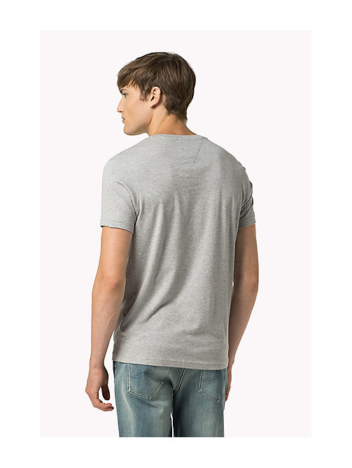 Original V-Neck T-shirt - LT GREY HTR - TOMMY JEANS Clothing - detail image 1