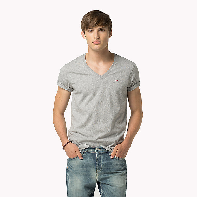 TOMMY JEANS Original V-Neck T-shirt - CLASSIC WHITE - TOMMY JEANS Clothing - main image