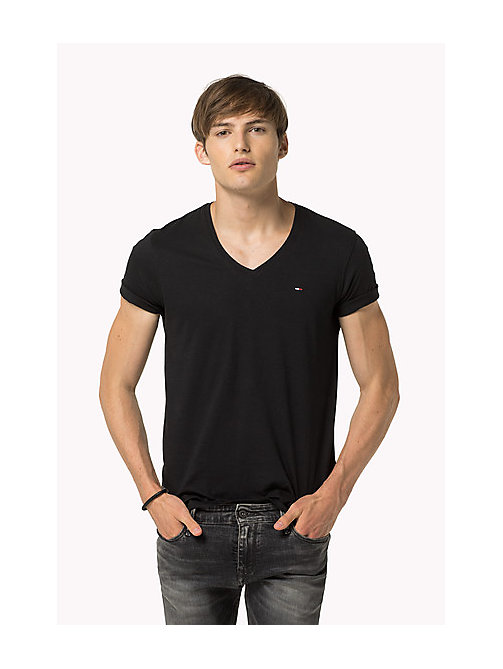 T-shirt col en V original - TOMMY BLACK -  Vêtements - image principale