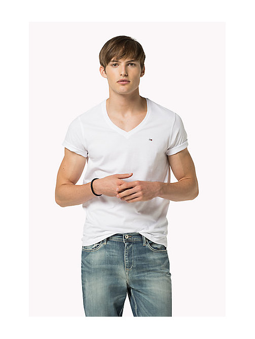 Original V-Neck T-shirt - CLASSIC WHITE - TOMMY JEANS Clothing - main image