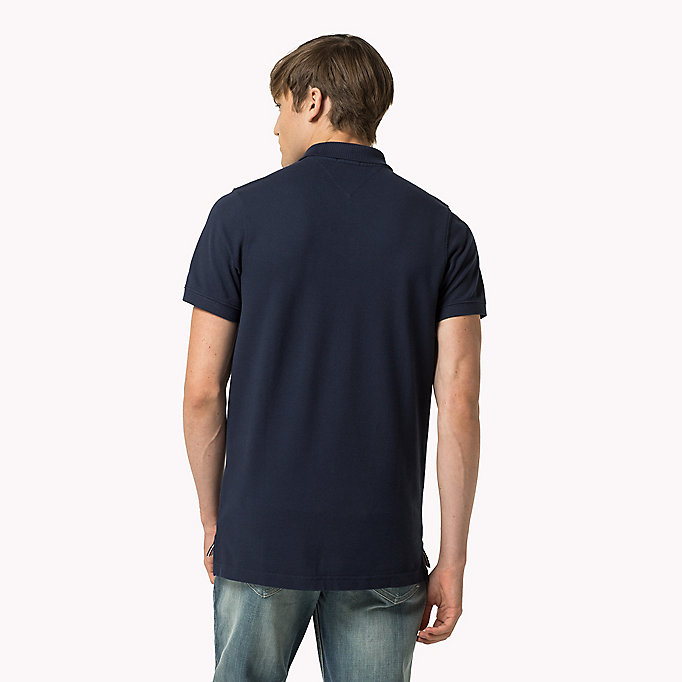 TOMMY JEANS Original Cotton Pique Polo - TOMMY BLACK - TOMMY JEANS Men - detail image 1