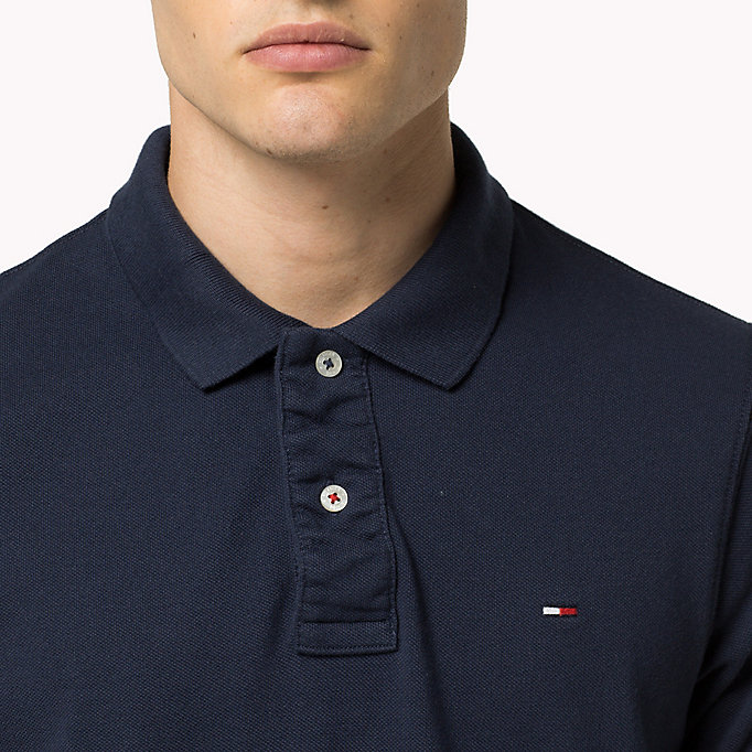 TOMMY JEANS Original Cotton Pique Polo - TOMMY BLACK - TOMMY JEANS Men - detail image 2