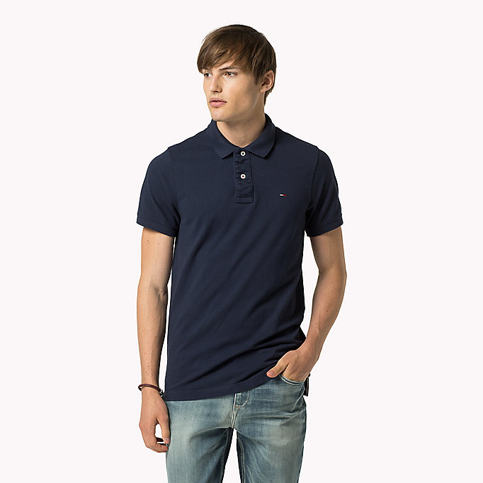 TOMMY JEANS Original Cotton Pique Polo - TOMMY BLACK - TOMMY JEANS Men - main image