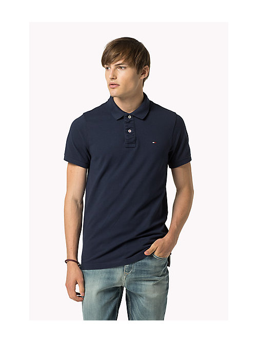 Original Cotton Pique Polo - BLACK IRIS - TOMMY JEANS Clothing - main image