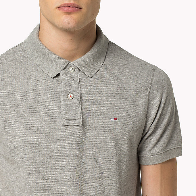 TOMMY JEANS Original Cotton Pique Polo - CLASSIC WHITE - TOMMY JEANS Clothing - detail image 2