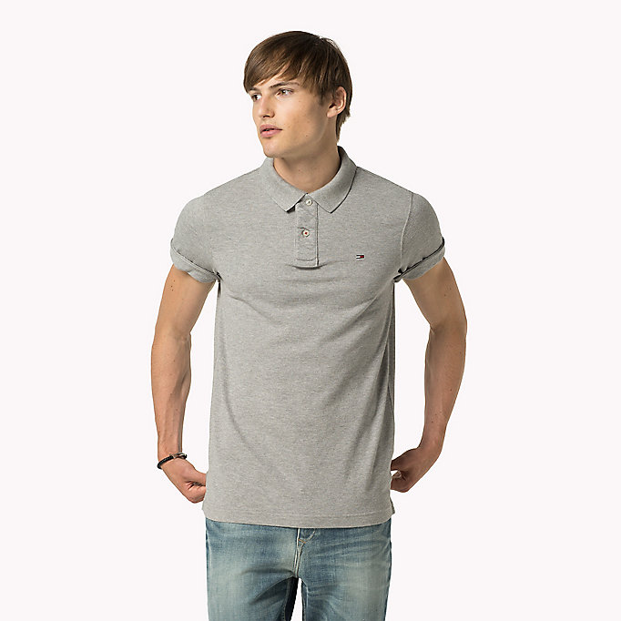 TOMMY JEANS Original Cotton Pique Polo - CLASSIC WHITE - TOMMY JEANS Men - main image