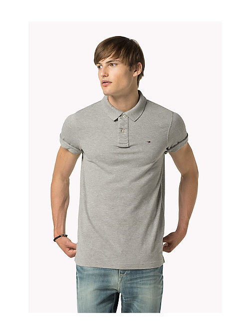 Original Cotton Pique Polo - LT GREY HTR - TOMMY JEANS Clothing - main image