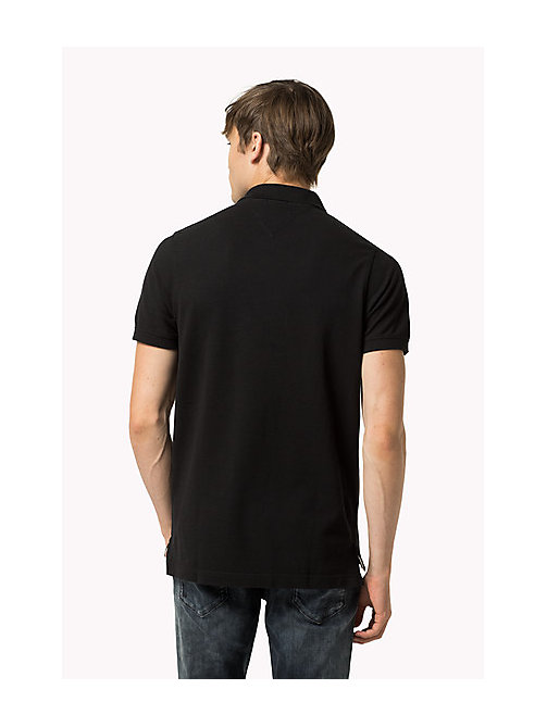 Original Cotton Pique Polo - TOMMY BLACK - TOMMY JEANS Men - detail image 1