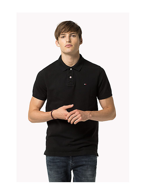 Original Cotton Pique Polo - TOMMY BLACK - TOMMY JEANS Men - main image