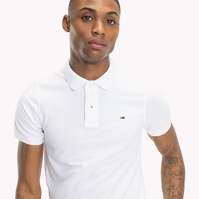 TOMMY JEANS Original Cotton Pique Polo - BLACK IRIS - TOMMY JEANS Men - detail image 2