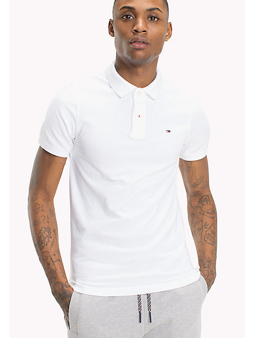Original Cotton Pique Polo - CLASSIC WHITE - TOMMY JEANS Clothing - main image